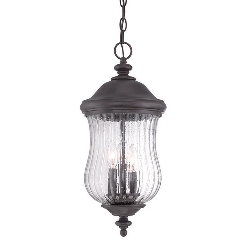 Bellagio 3-Light Black Coral Hanging Lantern