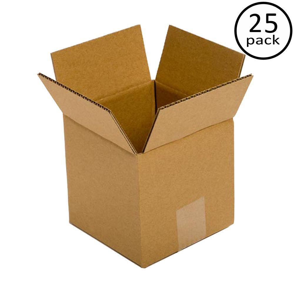Plain Brown Box 7 in. x 7 in. x 7 in. 25-Box Bundle