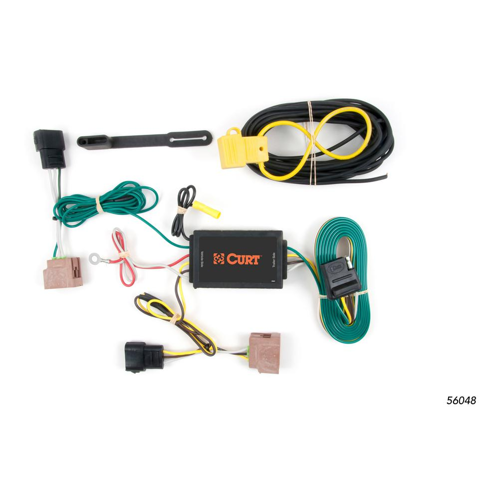 Ford Fiesta CURT 56064 Vehicle-Side Custom 4-Pin Trailer Wiring Harness for Select Lincoln MKS