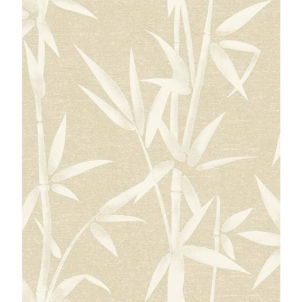 Brewster 8 in. x 10 in. Catasetum Gold Bamboo Wallpaper Sample