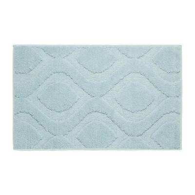 Mia Aqua 21 in. x 34 in. Bath Mat