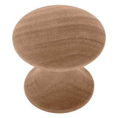 Classic 1-1/4 in. (32mm) Birch Shaker Wood Round Cabinet Knob