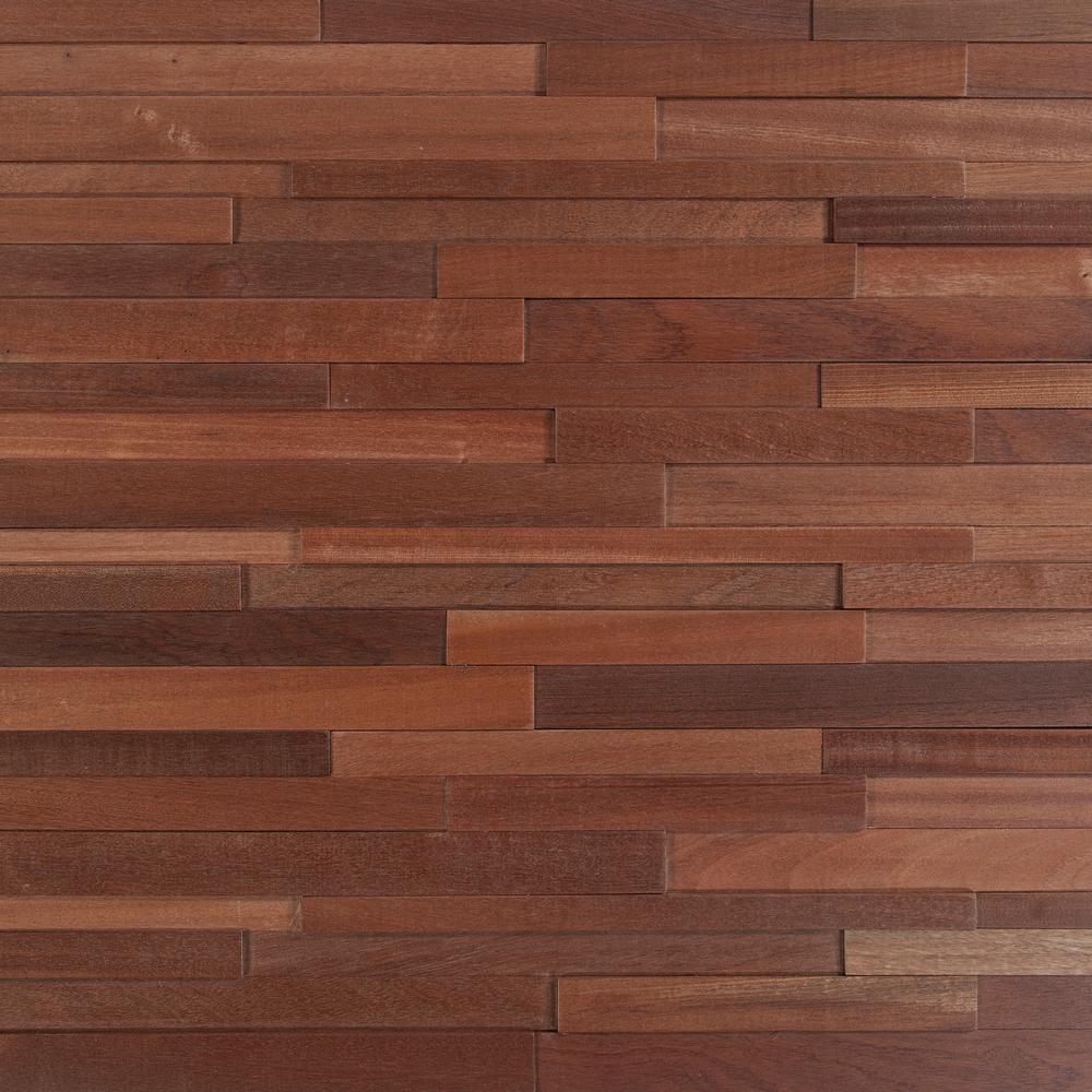 Take Home Sample - Deco Strips Alamo Engineered Hardwood Wall Strips - 5 in. x 7 in.