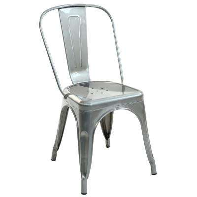 Trattoria Polished Gunmetal Side Chair (Set of 2)
