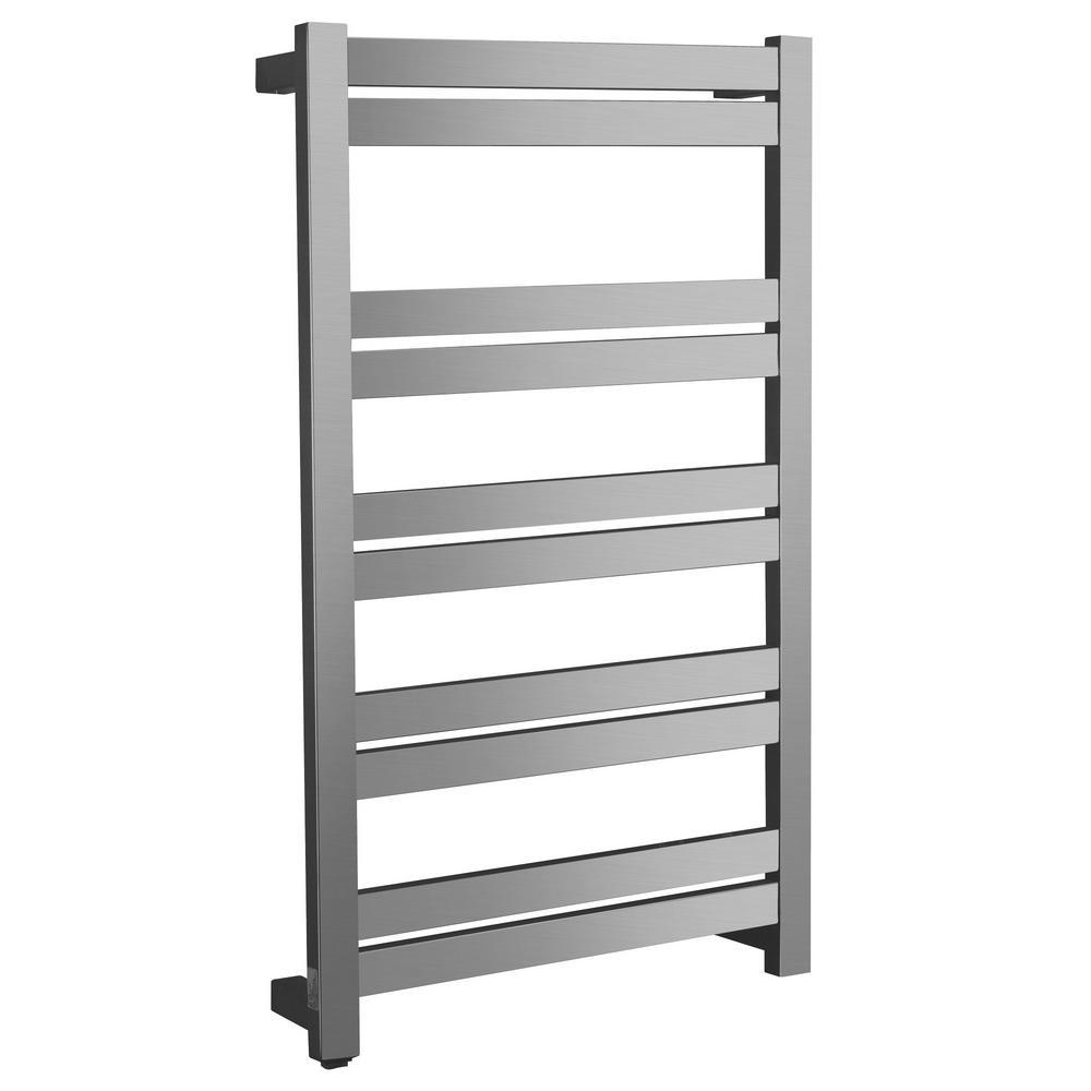 Malibu Series 10-Bar Stainless Steel Wall Mounted Electric Towel Warmer in Brushed Nickel