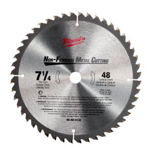 Milwaukee 7-1/4 in x 48 Carbide Tooth Circular Saw Blade by Milwaukee
