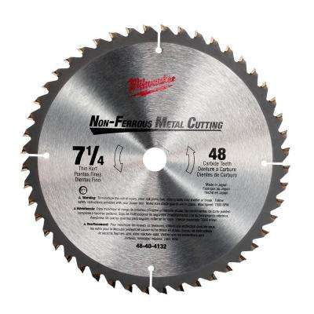 7-1/4 in x 48 Carbide Tooth Circular Saw Blade