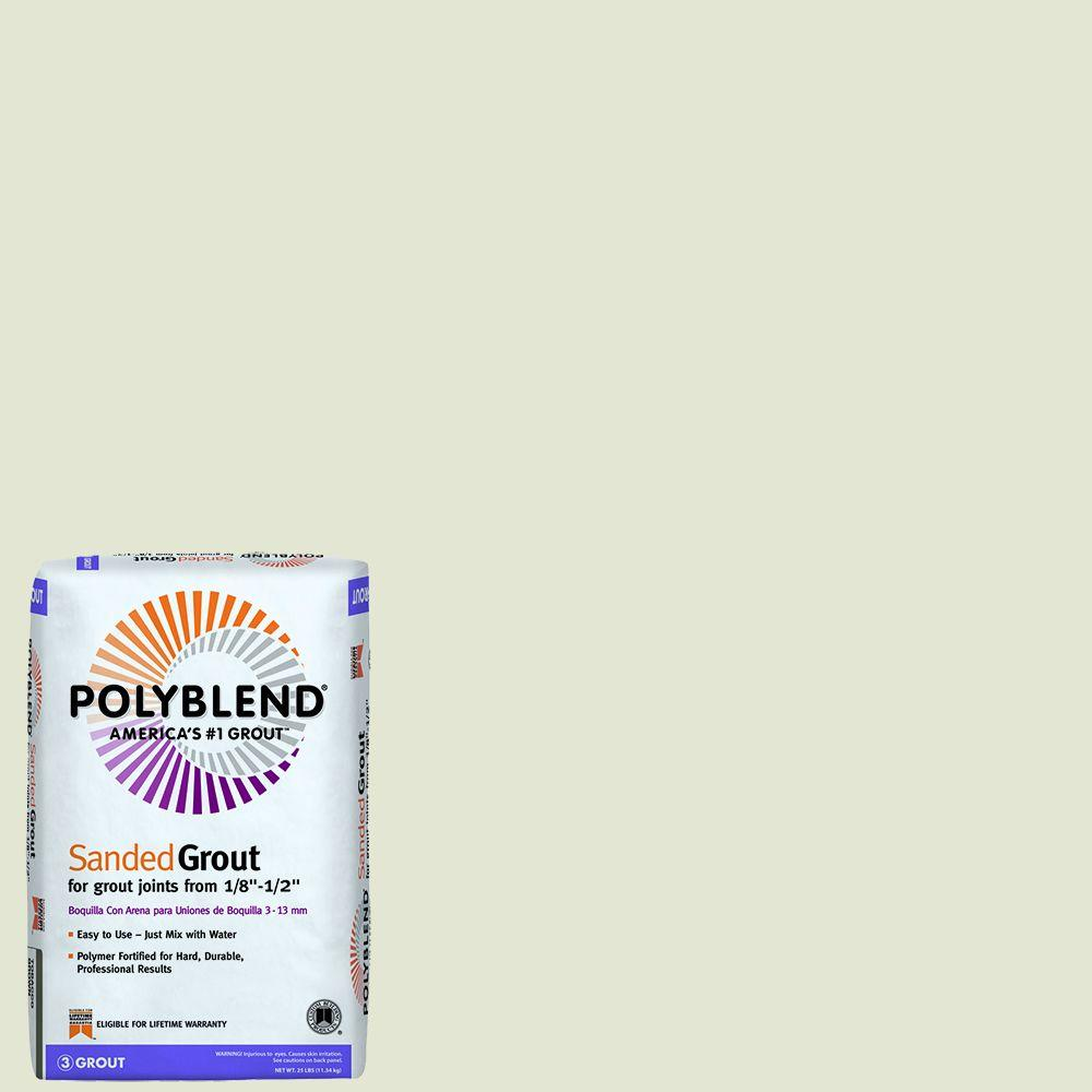 Custom Building Products Polyblend #11 Snow White 25 lb. Sanded Grout