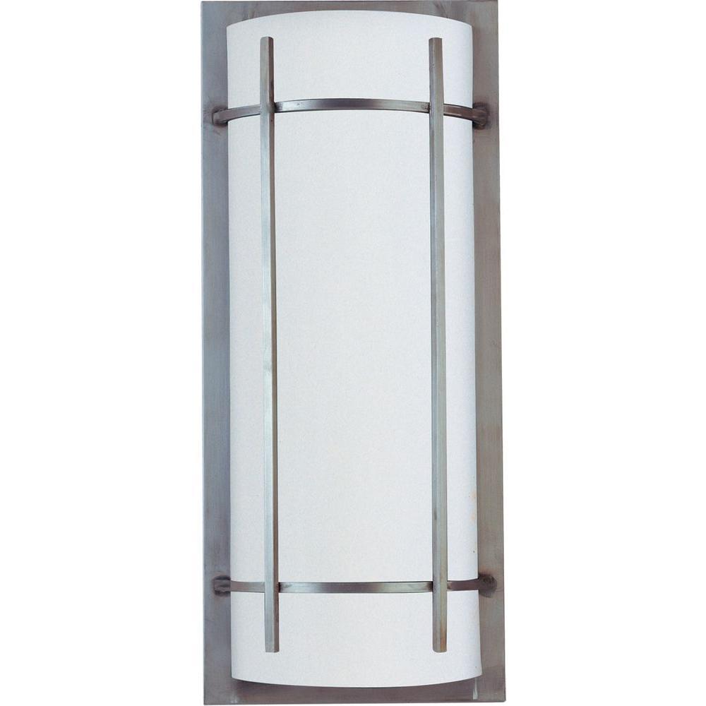 Outdoor Wall Lights Metal: Maxim Lighting Luna 2-Light Brushed Metal Outdoor Wall
