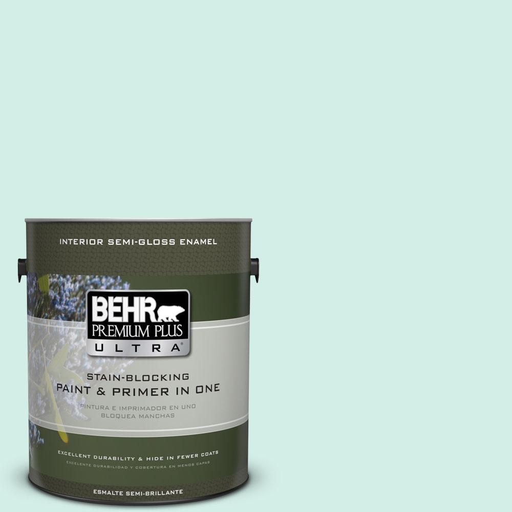 BEHR Premium Plus Ultra Home Decorators Collection 1-gal. #HDC-MD-19 Soft Mint Semi-Gloss Enamel Interior Paint