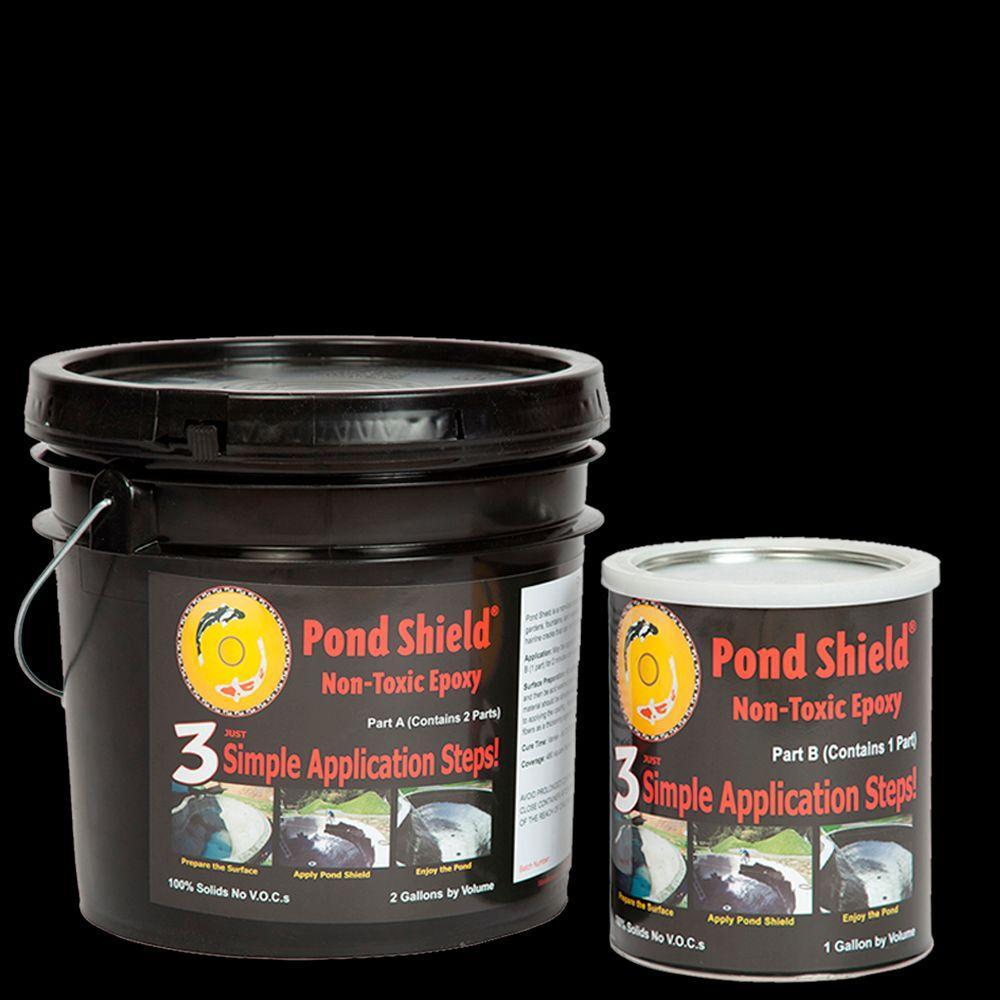Pond Armor Pond Shield 3-gal. Black Non Toxic Epoxy