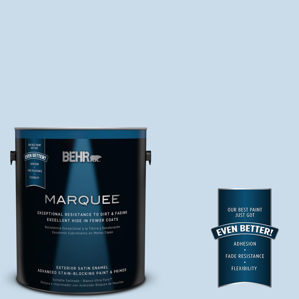 1-gal. #M510-1 Blue Me Away Satin Enamel Exterior Paint