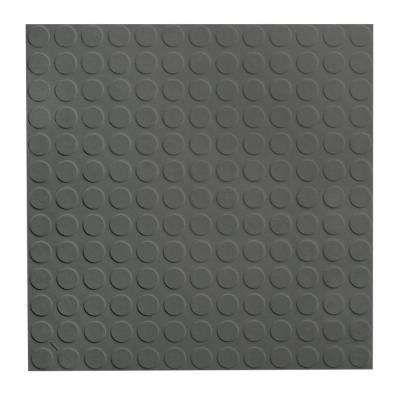 Low Circular Profile 19.69 in. x 19.69 in. Charcoal Rubber Tile