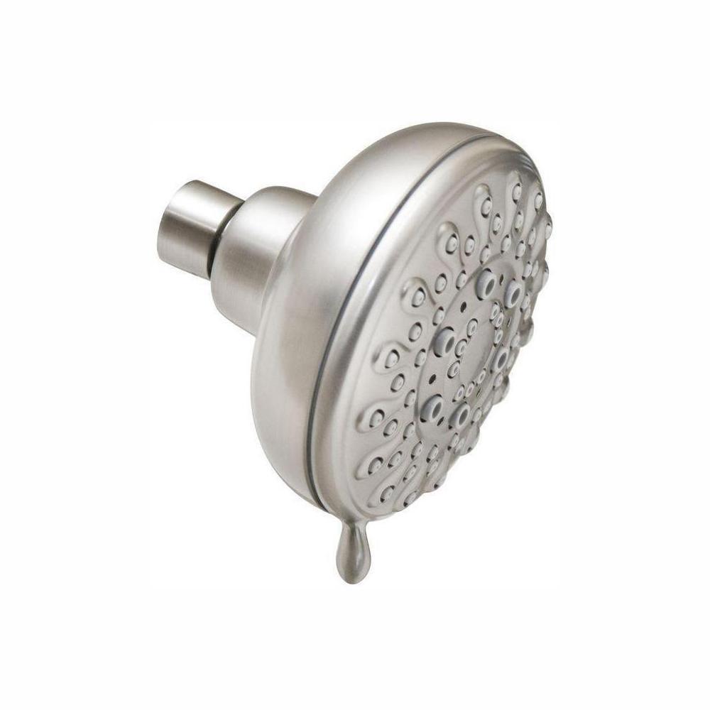 Banbury 5-Spray 4 in. Single Wall Mount Fixed Shower Head in Spot Resist Brushed Nickel