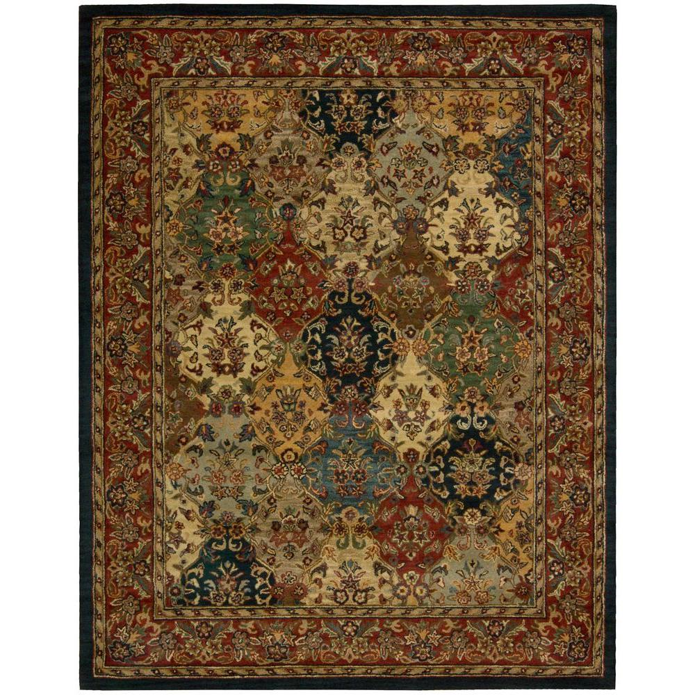 Nourison India House Multicolor 8 Ft. X 10 Ft. 6 In. Area Rug