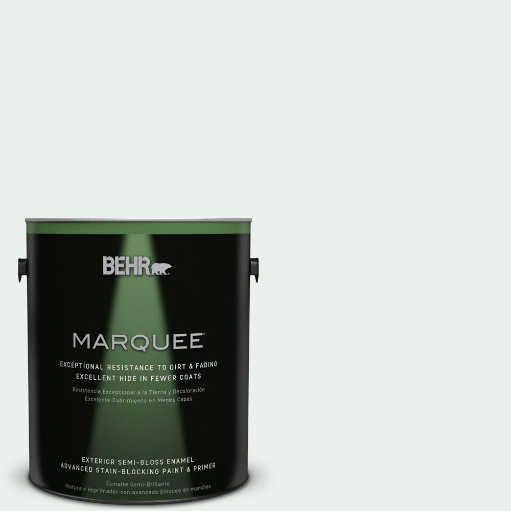 BEHR MARQUEE 1-gal. #PPL-36 Cool Reflection Semi-Gloss Enamel Exterior Paint