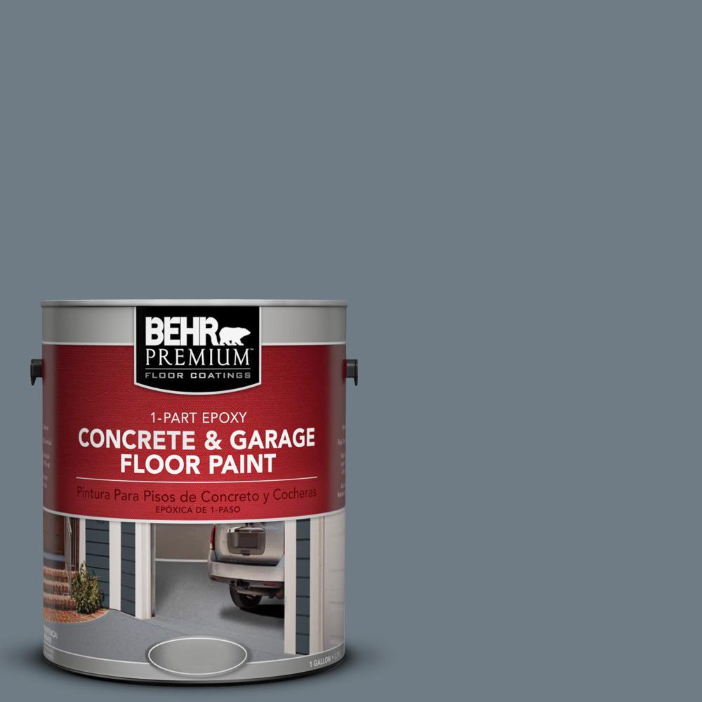1 gal. #N490-5 Charcoal Blue 1-Part Epoxy Concrete and Garage Floor Paint