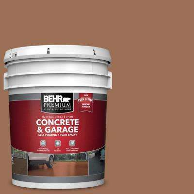 5 gal. #S210-6 Cinnamon Crunch Self-Priming 1-Part Epoxy Satin Interior/Exterior Concrete and Garage Floor Paint