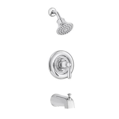Mandouri Single-Handle 1-Spray Tub and Shower Faucet in Chrome (Valve Included)