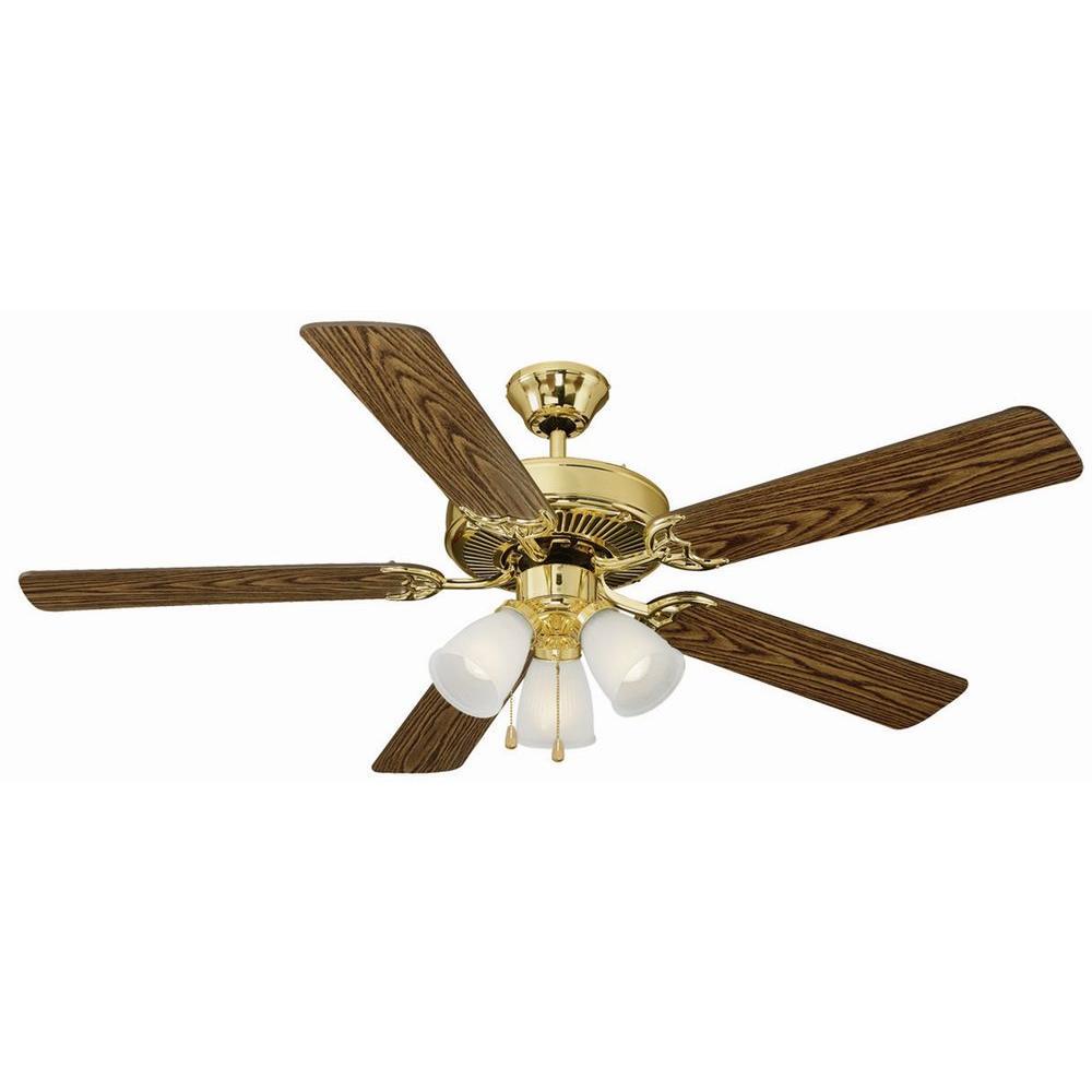 Design House Millbridge 52 in. Polished Brass Ceiling Fan