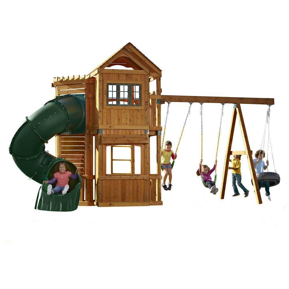 Swing-N-Slide Playsets Durango Wood Complete Play Set