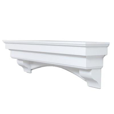 60 in. x 10 in. Traditional Hearth Cap-Shelf Mantel in Smooth White