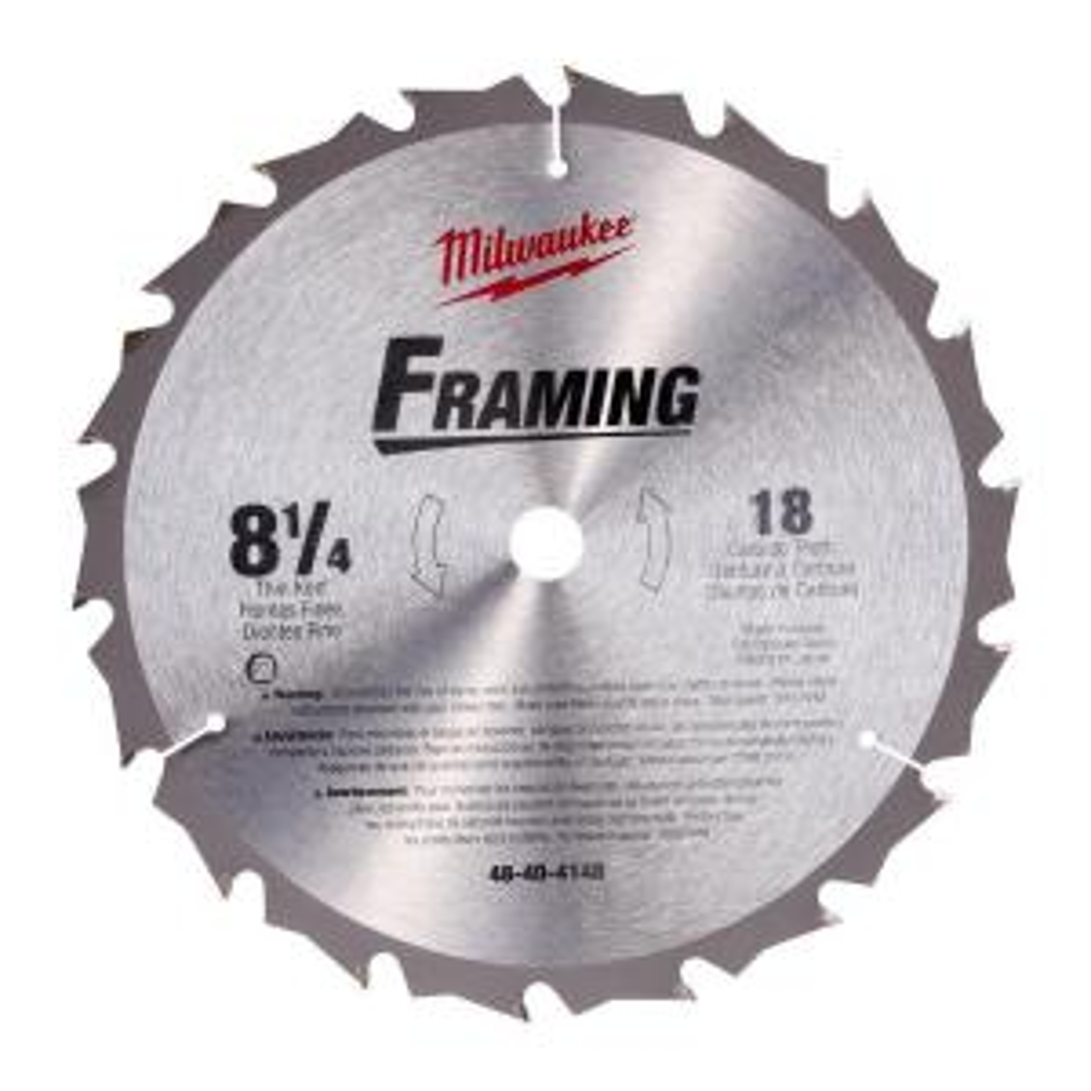 Milwaukee 8-1/4 inch x 18 Carbide Tooth Circular Saw Blade by Milwaukee
