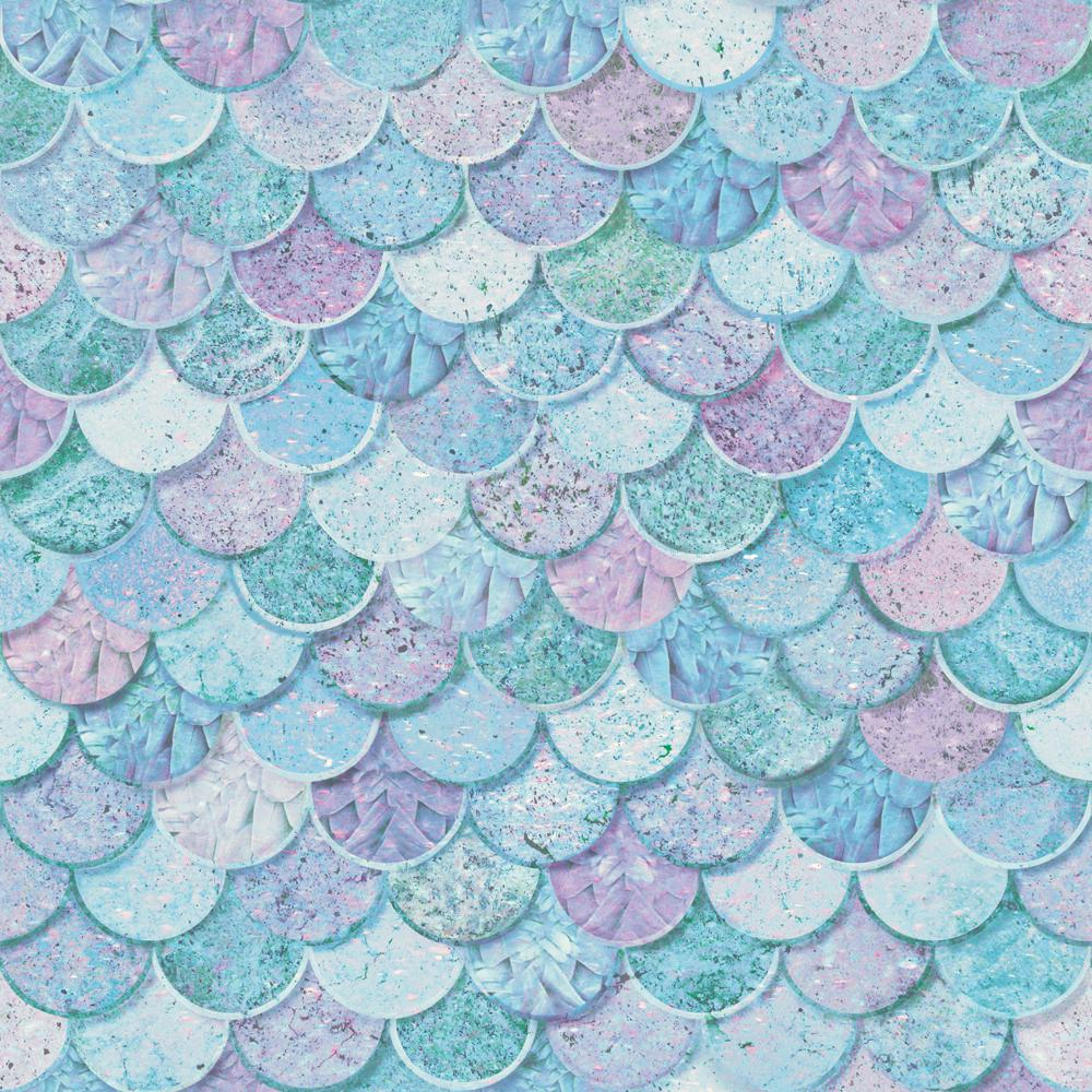 Arthouse Mermazing Scales Ice Blue Wallpaper 698305 The