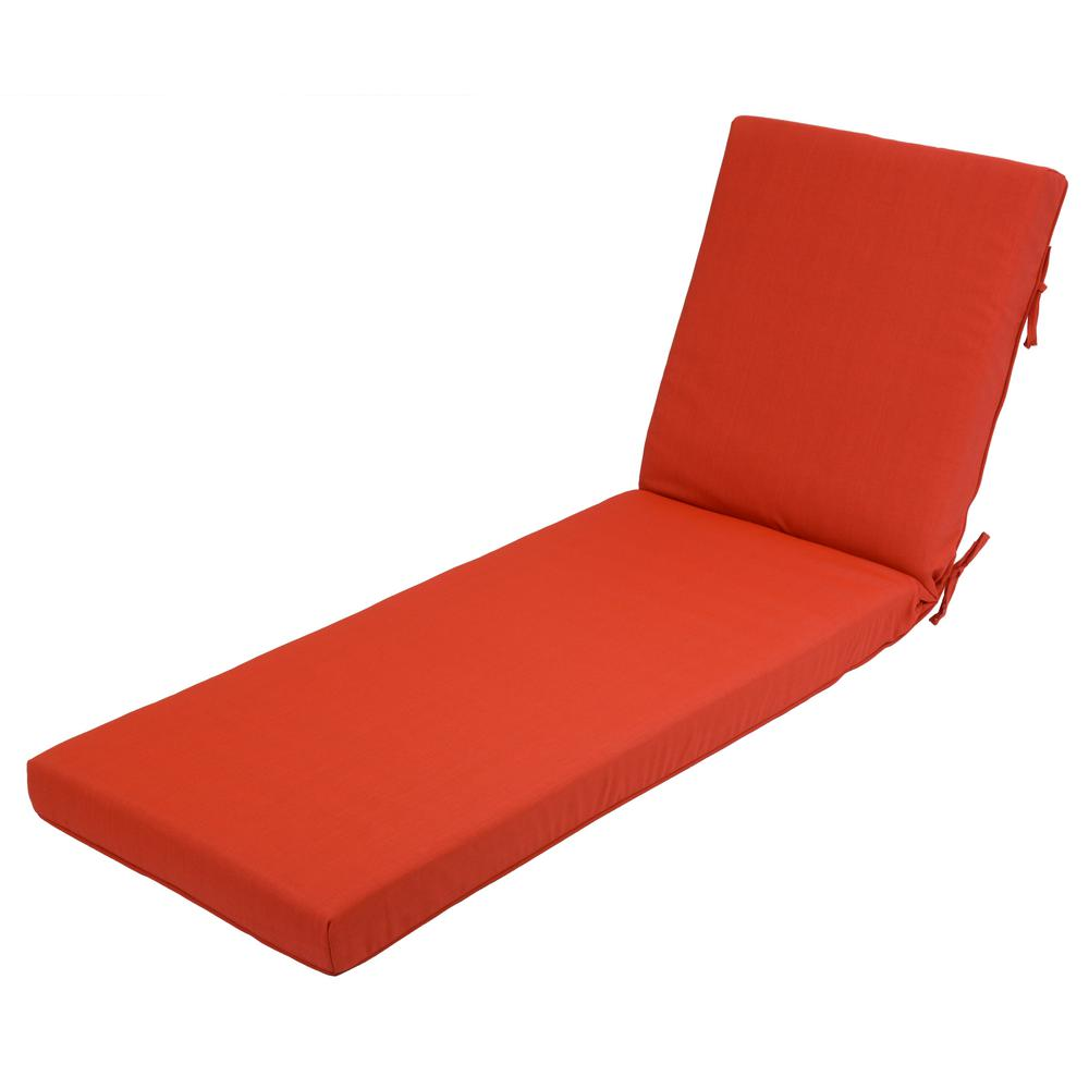 null Ruby Tweed Outdoor Chaise Lounge Cushion  sc 1 st  Home Depot : pool chaise lounge cushions - Sectionals, Sofas & Couches