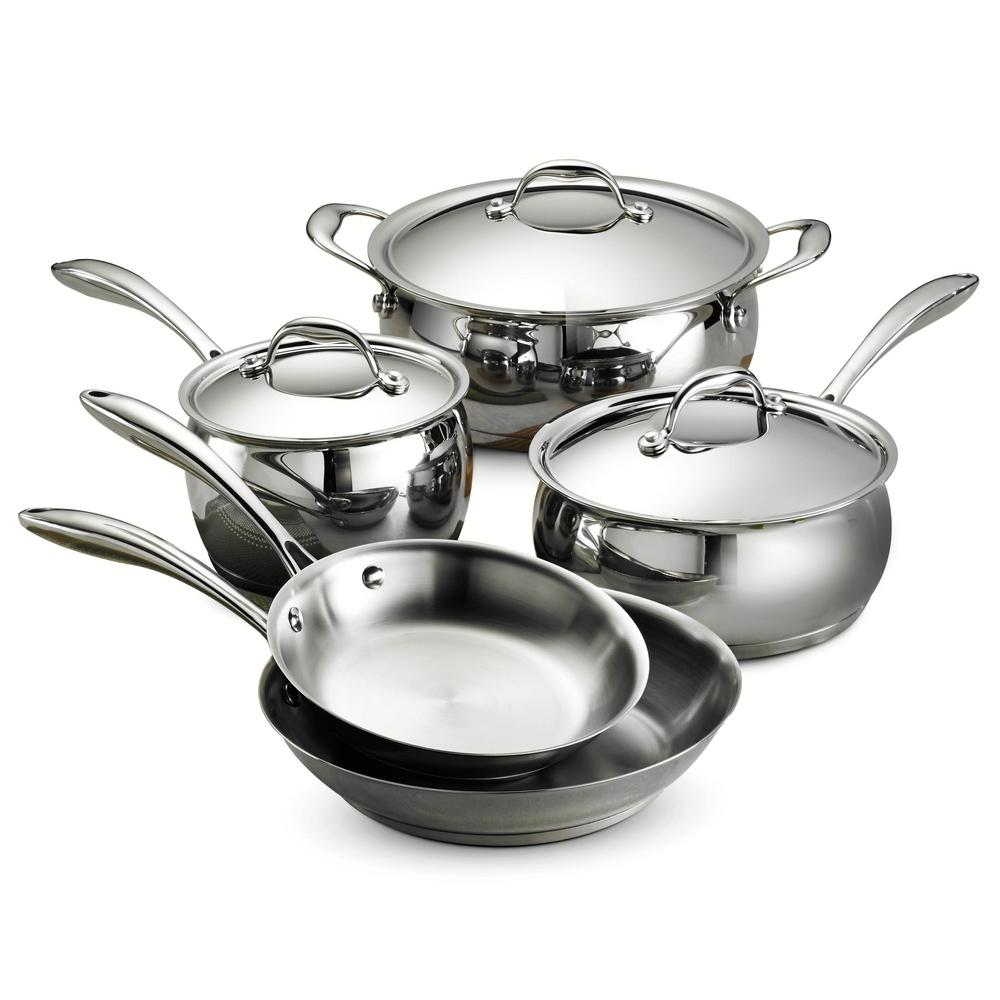 Tramontina Gourmet Domus Tri-Ply Base 8-Piece Cookware Se...