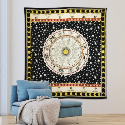 Nisha Black Wall Tapestry