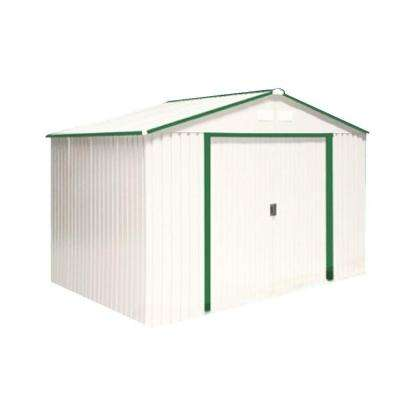 Del Mar 10 ft. x 8 ft. Metal Shed with Foundation