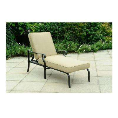 A+R Belthorne Brown Patio Chaise Lounge with Beige Cushion