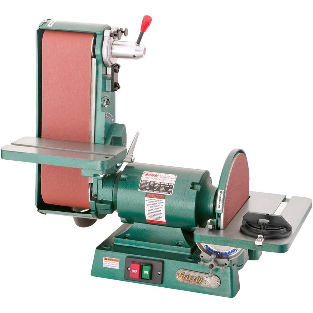 Grizzly Industrial 6 inch x 48 inch Belt 12 inch Disc 3450 RPM Combination Sander