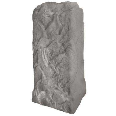 36-3/4 in. H x 18 in. W x 19 in. L Monolith Landscape Granite Resin Rock Utility Cover