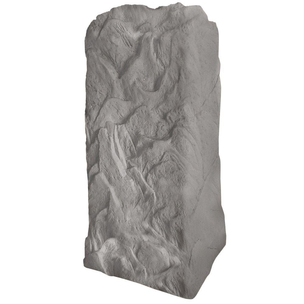 36-3/4 in. H x 18 in. W x 19 in. L Monolith Landscape Granite Resin Rock Utility Cover