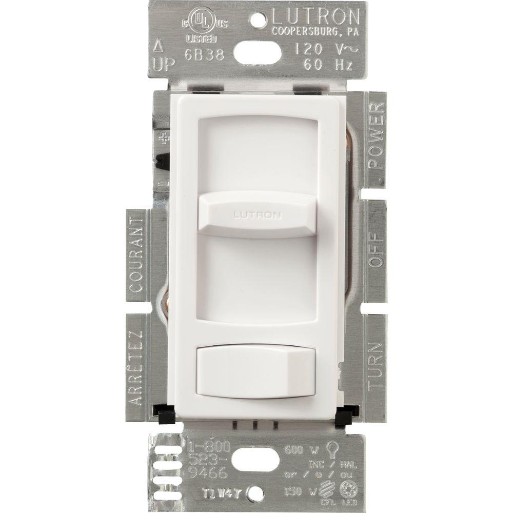 white lutron dimmers ctcl 153pdh wh 64_1000 lutron skylark contour 150 watt single pole 3 way cfl led dimmer  at bakdesigns.co