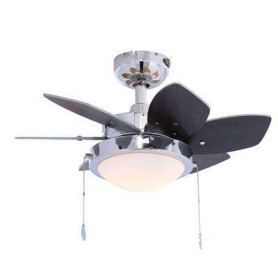 Quince 24 in. Chrome Ceiling Fan