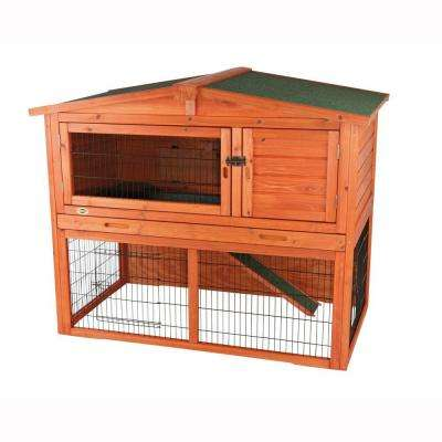 4 ft. x 2.5 ft. x 3.25 ft. Medium Rabbit Hutch with Peaked Roof