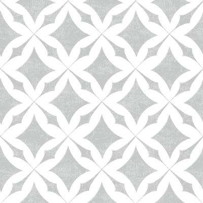 Creative Covering 18 in. x 20 ft. Vintage Trellis Gray Self-Adhesive Vinyl Drawer and Shelf Liner (6-Rolls)