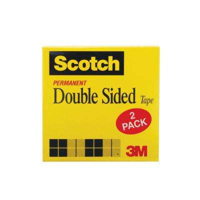 Scotch 1/2 in. x 13.8 yds. Double Sided Tape (2-Pack) (Case of 36)