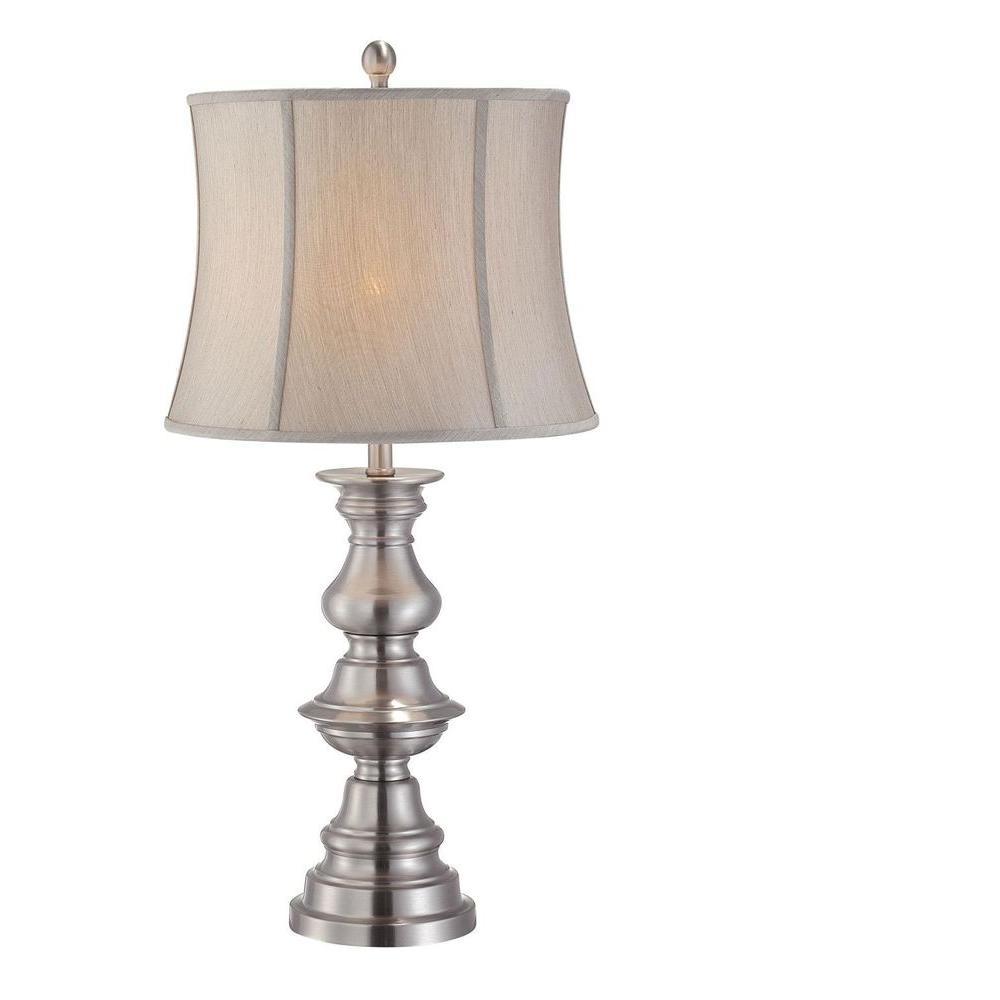 Illumine 1-Light Table Lamp Polished Steel Finish