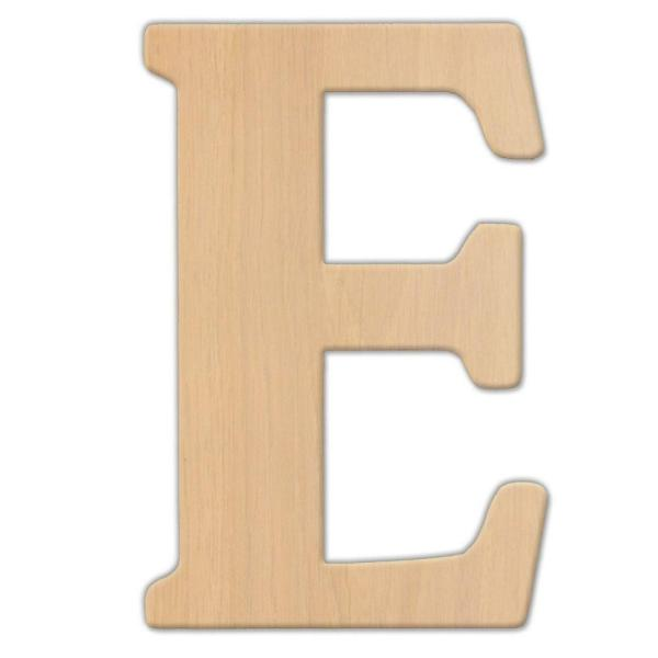 23 in. Oversized Unfinished Wood Letter (E)