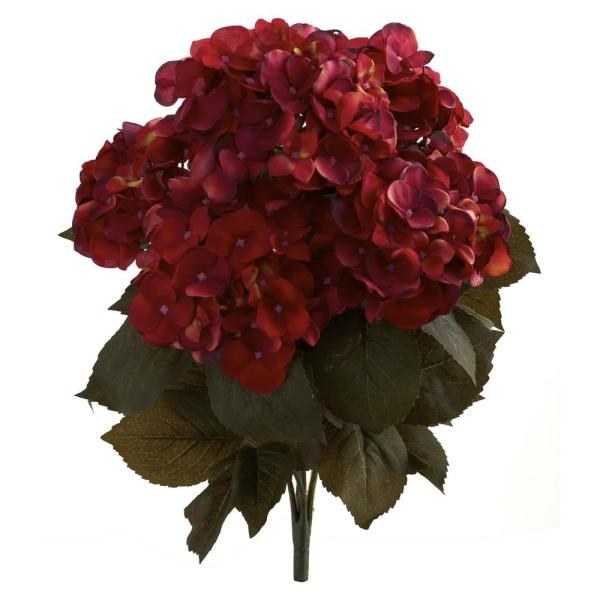 Indoor 20 in  Fall Hydrangea Artificial Plant (Set of 2)