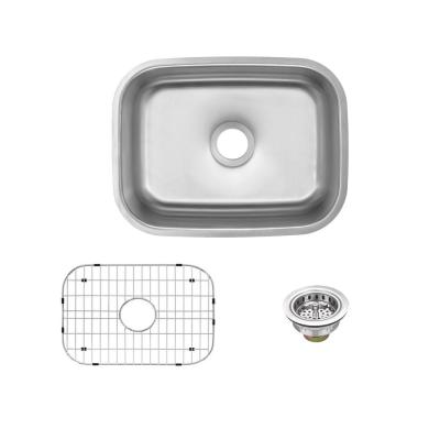 Undermount 18-Gauge Stainless Steel 23 in. Single Bowl Kitchen Sink with Grid and Drain Assembly