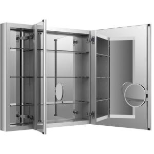Kohler Verdera 40 In W X 30 H Recessed Medicine Cabinet Anodized Aluminum K 99011 Na The Home Depot