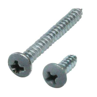 #7 x 1-1/4 in. and #7 x 1/2 in. Gray Shelf Bracket Screw Kit (12-Pack)