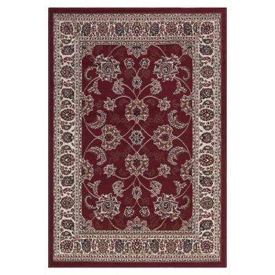 Traditional Oriental Dark Red 5 ft. x 7 ft. Area Rug