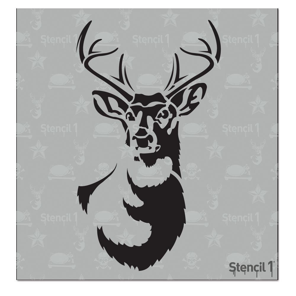 Stencil1 Antlered Deer Small Stencil S10152ss The Home Depot