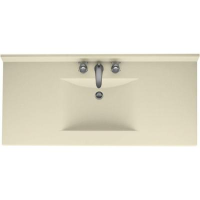 Contour 49 in. Solid Surface Vanity Top with Basin in Bone